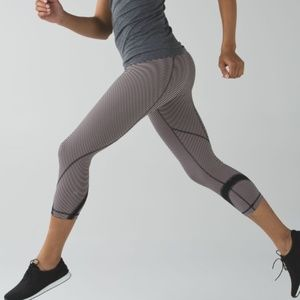 Lululemon Run: Inspire Crop II Mini Pop Stripe 8